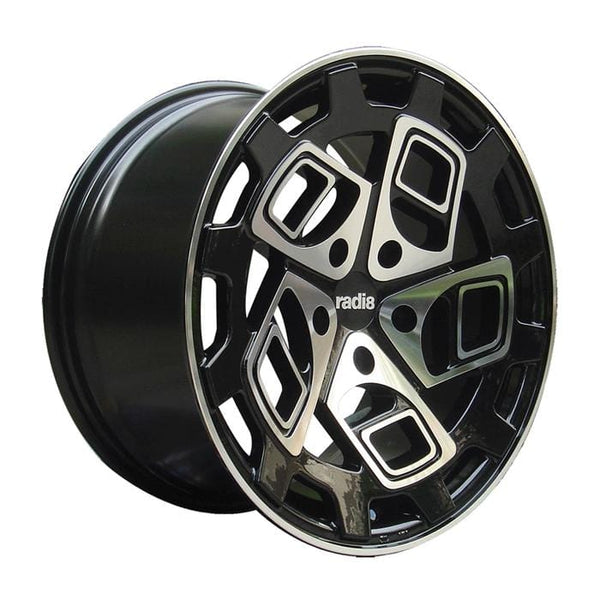 "Radi8 Wheels Radi8 R8CM9 Wheel 20"" Black w/Machined Face"