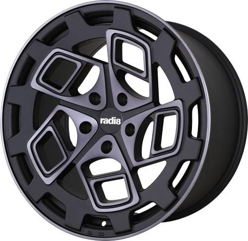 "Radi8 Wheels 5x112 20x8.5"" et45 - 66.6mm Hub Radi8 R8CM9 Wheel 20"" Dark Mist CM9-2085-5112-45-DM"