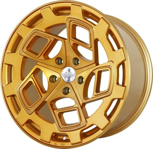 "Radi8 Wheels 5x112 19x8.5"" et45 - 66.56mm Hub Radi8 R8CM9 Wheel 19"" Gold Brushed Face CM9-1985-5112-45-GBF"