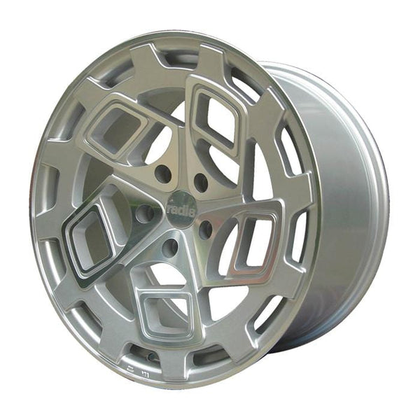 "Radi8 Wheels 5x112 19x8.5"" et45 - 66.56mm Hub / radi8 Standard Cap (included) Radi8 R8CM9 Wheel 19"" Silver Machined CM9-1985-5112-45-MSMF"