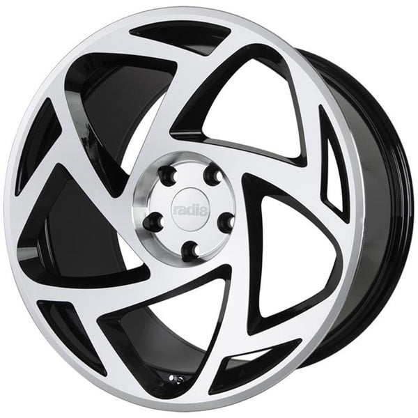 "Radi8 Wheels 5x112 19x8.5"" et45 - 66.56mm Hub Radi8 R8S5 Wheel 19"" Black w/ Machined Face S5-1985-5112-35-BMF"
