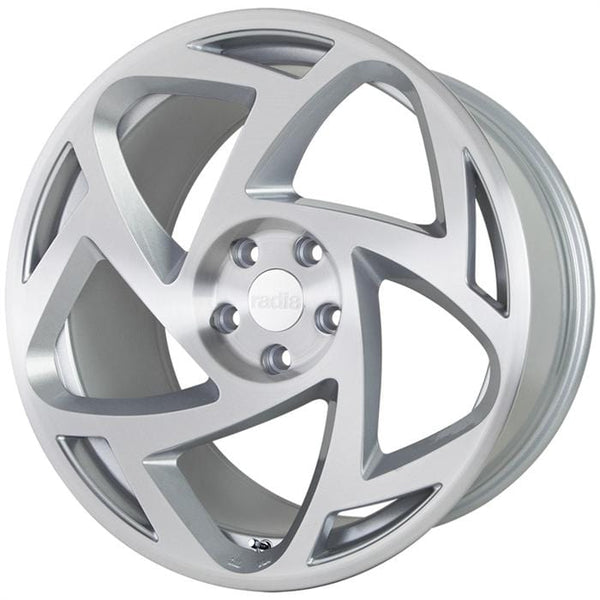 "Radi8 Wheels 5x112 19x8.5"" et35 - 66.56mm Hub Radi8 R8S5 Wheel 19"" Silver Machined S5-1985-5112-35-MSMF"