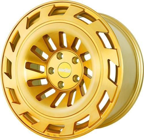"Radi8 Wheels 5x112 19x8.5"" et45 - 66.56mm Hub Radi8 Wheels R8T12 Gold Brushed 19"" T12-1985-5112-45-GBF"
