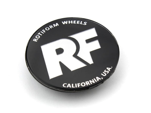 "Rotiform Rotiform ""RF"" Black and Chrome Hex Center Cap (Sold Each) 32170BC"