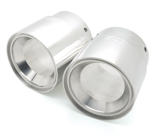 Burger Motorsports Silver Burger Motorsports E Chassis Slip-On 335 Exhaust Tips burger-e9x-335-slip-on-tips-3