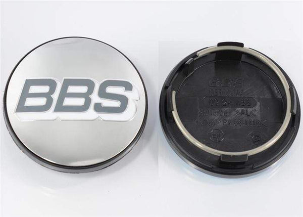 BBS BBS Polished Grey & White Center Cap (Sold Each) - 70.6mm 4-Tab bbs09.24.486