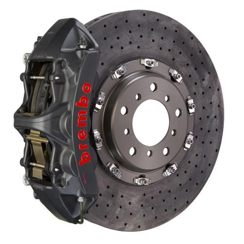 Brembo Brembo GT-S CCM-R Systems 380x34 CCM-R 6-Piston Hard Anodized Drilled Front 1L9.9004AS