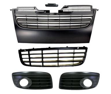 UroTuning Kits With Fog Light Holes UroTuning Mk5 GTi | Jetta Badgeless Grill Kit gr-vwj5-b-kit-1