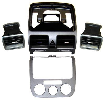 VW/Audi Manual Climatic A/C Anthracite Dash Trim Kit | Mk5 Mk5_TrimSet_75T
