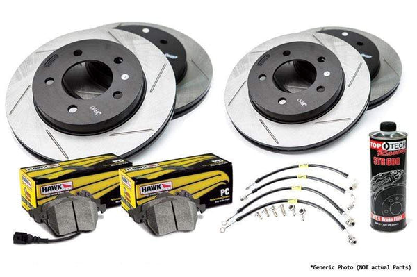 Stoptech Stoptech Slotted Rotor Kit with Hawk Pads | Mk4 Golf R32 Stoptech_S_Mk4_R32