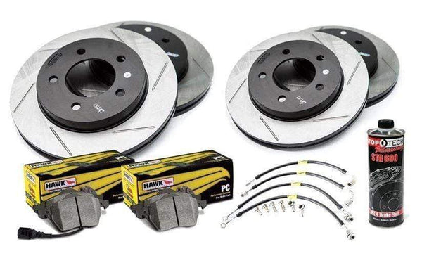 Stoptech Stoptech Slotted Rotor Kit with Pads | VW B6 Passat 2.0T | VR6 FWD Stoptech_S_B6_Passat_FWD