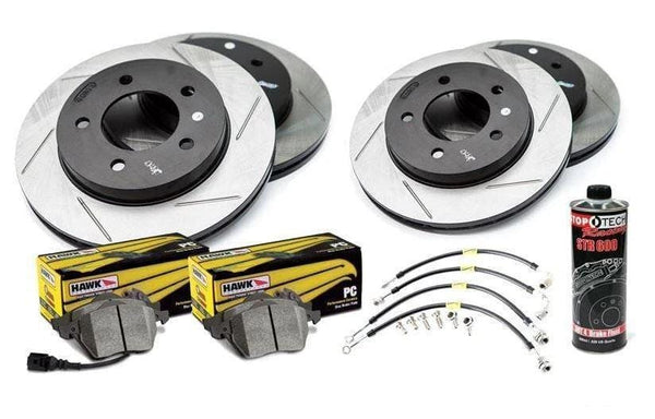 Stoptech Stoptech Slotted Rotor Kit with Pads | B7 Audi A4 Stoptech_S_B7_A4