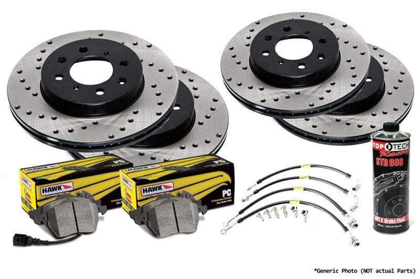 Stoptech 245mm Stoptech Cross Drilled Rotor Kit with Pads | B6 Audi A4 1.8T Stoptech_B6_A4_1-8T-245