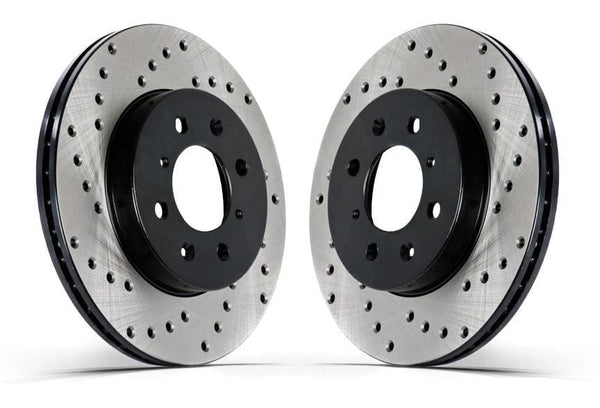 Stoptech No Thanks Front Stoptech Cross Drilled Rotors - Set of 2 Rotors (256x20mm) Mk3 Golf | Jetta 4Cyl. 128.33023L-R
