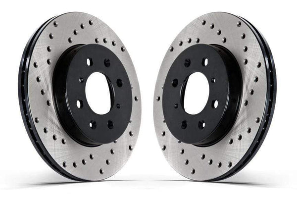 Stoptech Front Stoptech Cross Drilled Rotors - Set of 2 Rotors (280x22mm) Early Mk3 Golf | Jetta VR6 128.33034L-R