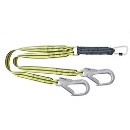 ATEX Shock Absorbing Webbing Lanyard - 1.5mtr (2 hook end)