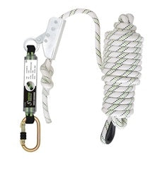 Captive Fall Arrester Attached to 12mm x 20 mtr Kernmantle Rope With Shock Absorber