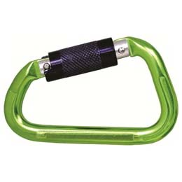 Green Finish Aluminium Quarter Turn Locking Karabiner