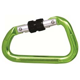 Green Finish Aluminium Screw Locking Karabiner