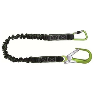 Shock Absorbing Expandable Webbing Lanyard - Scaffold Hook End