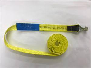 Webbing Long End c/w Claw Hook and Rubber Over the Hook