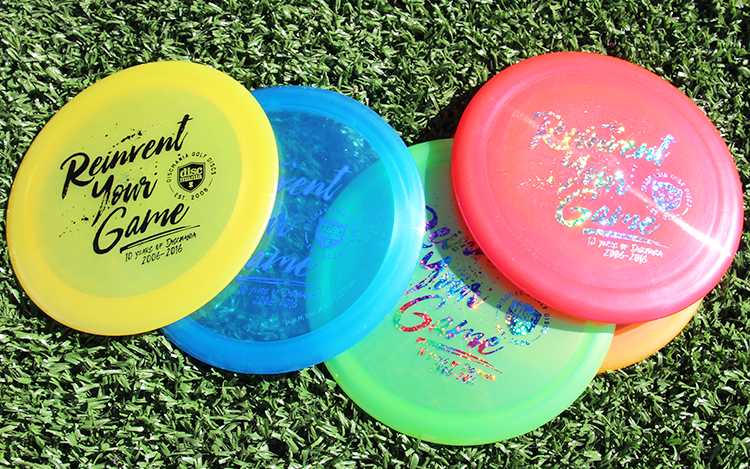 We'll have a small batch of 10-year anniversary discs coming out soon to celebrate the occasion. At selected dealers (Hazy Shade Disc Golf, Infinite Discs, 1010 Discs and Ideal Discs) this week, and at the Discmania Store a bit later.