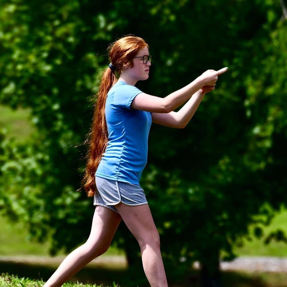Only 14 years old Cadence Burge has already been playing tournaments for 7 years.