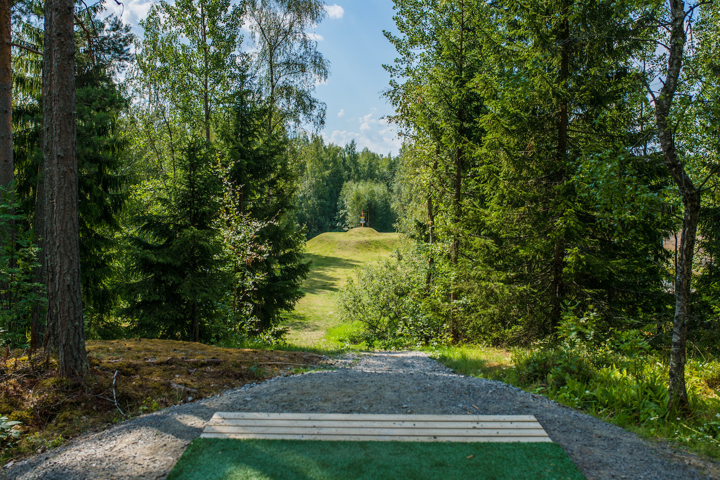 Hole 17 of the Tampere Disc Golf Center.