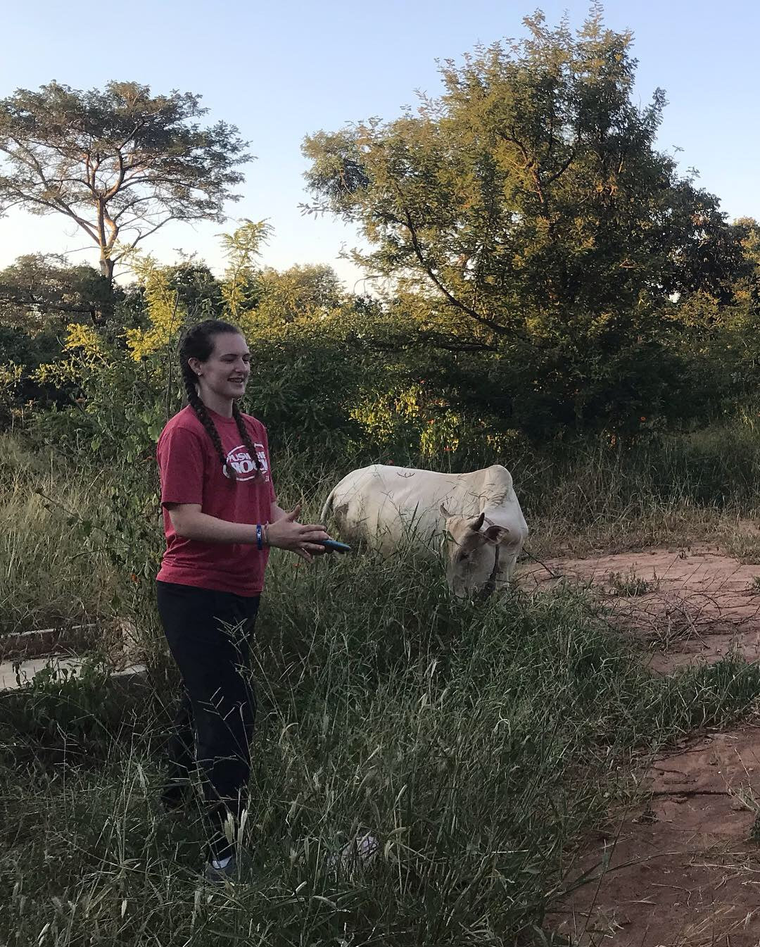 Esther Schultz while in Zambia