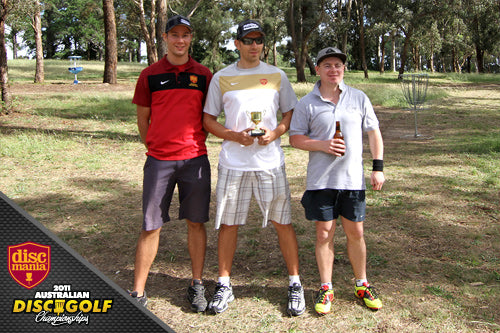 Disc Golf Melbourne Open 2011 top 3.