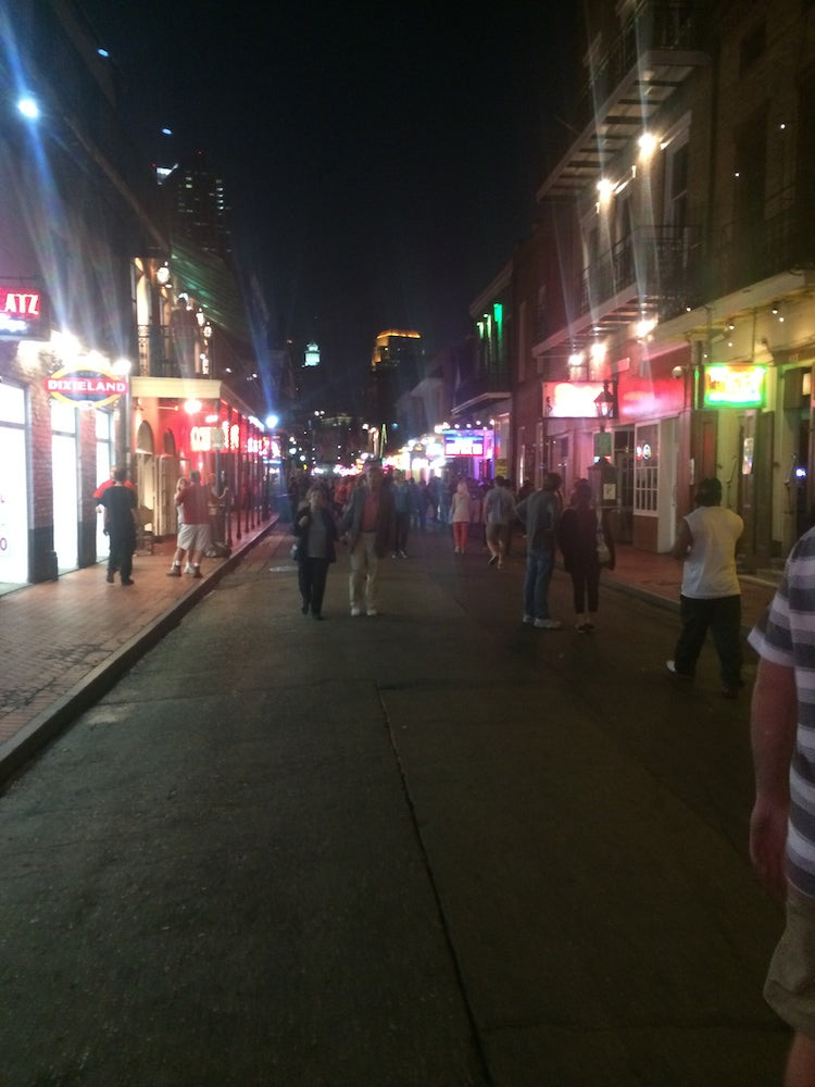 Bourbon street in New Orleans, truly a crazy place on Earth