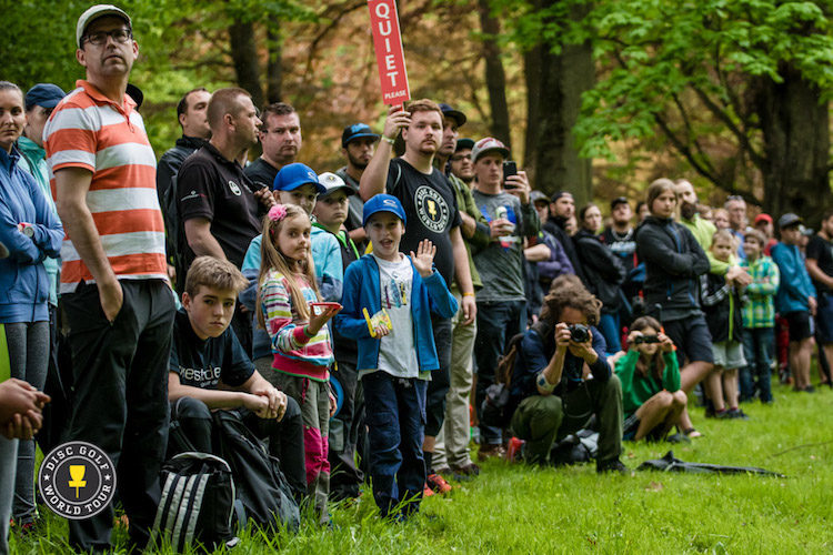 Big events display disc golf at its best to the public and boost disc golf growth. Konopiste Open in Czech Republic 2017.