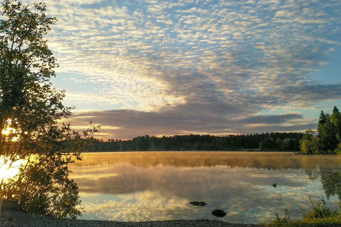 A scenic view of midsummer Finland