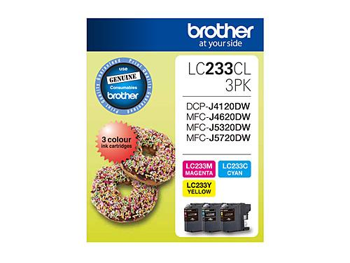 Brother LC-233CL3PK Misc Consumables Ink Cartridge