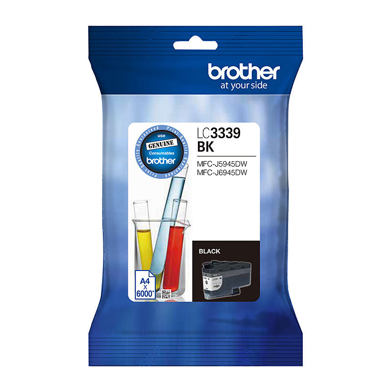 Brother LC-3339XLBK, Original Black High Yield Ink Cartridge - 6,000 Pages
