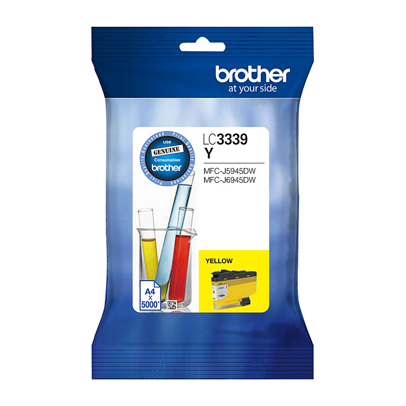 Brother LC-3339XLY, Original Yellow High Yield Ink Cartridge - 5,000 Pages