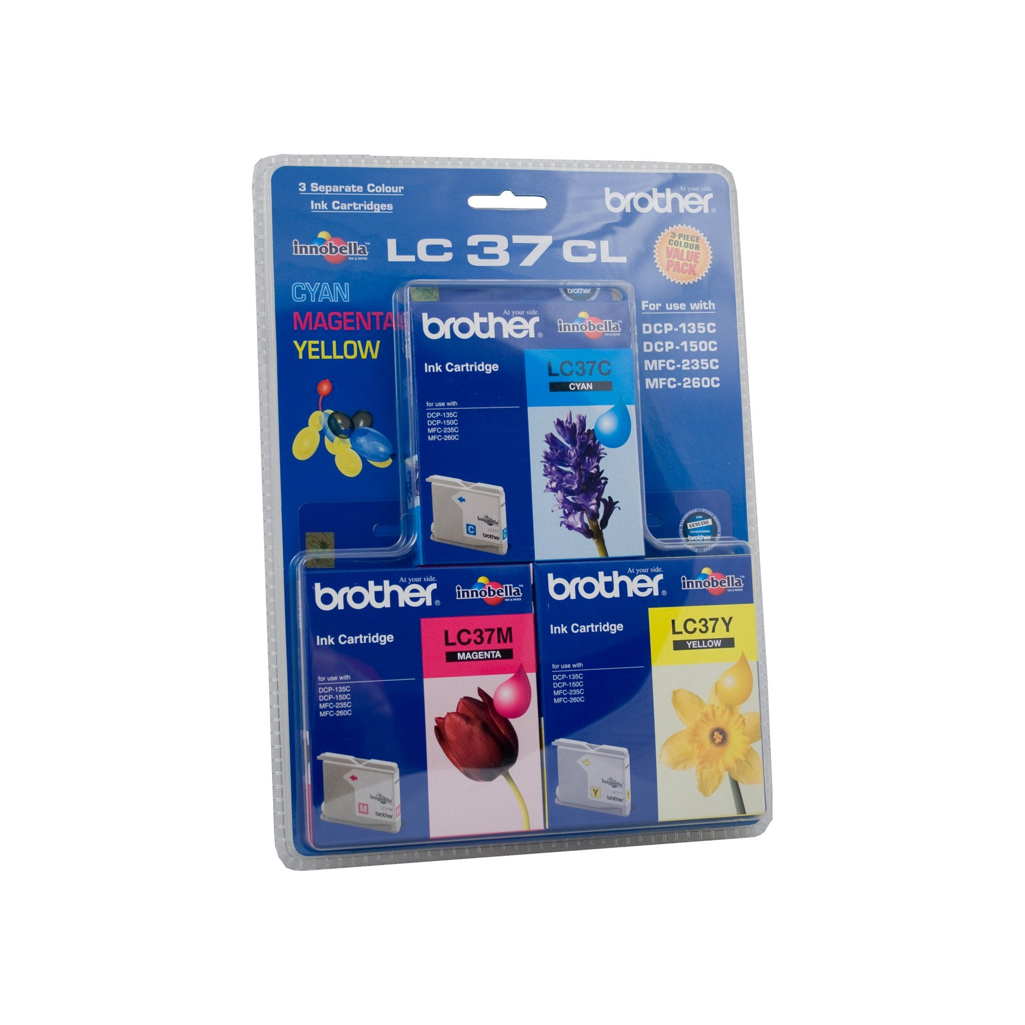 Brother LC-37 CMY Colour Pack Ink Cartridge