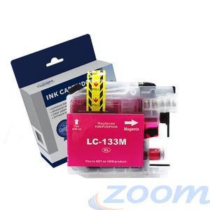 Premium Compatible Brother LC131M-LC133M Magenta High Yield Ink Cartridge