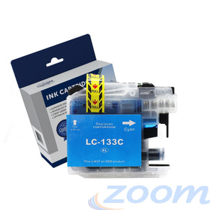 Premium Compatible Brother LC131C-LC133C Cyan High Yield Ink Cartridge
