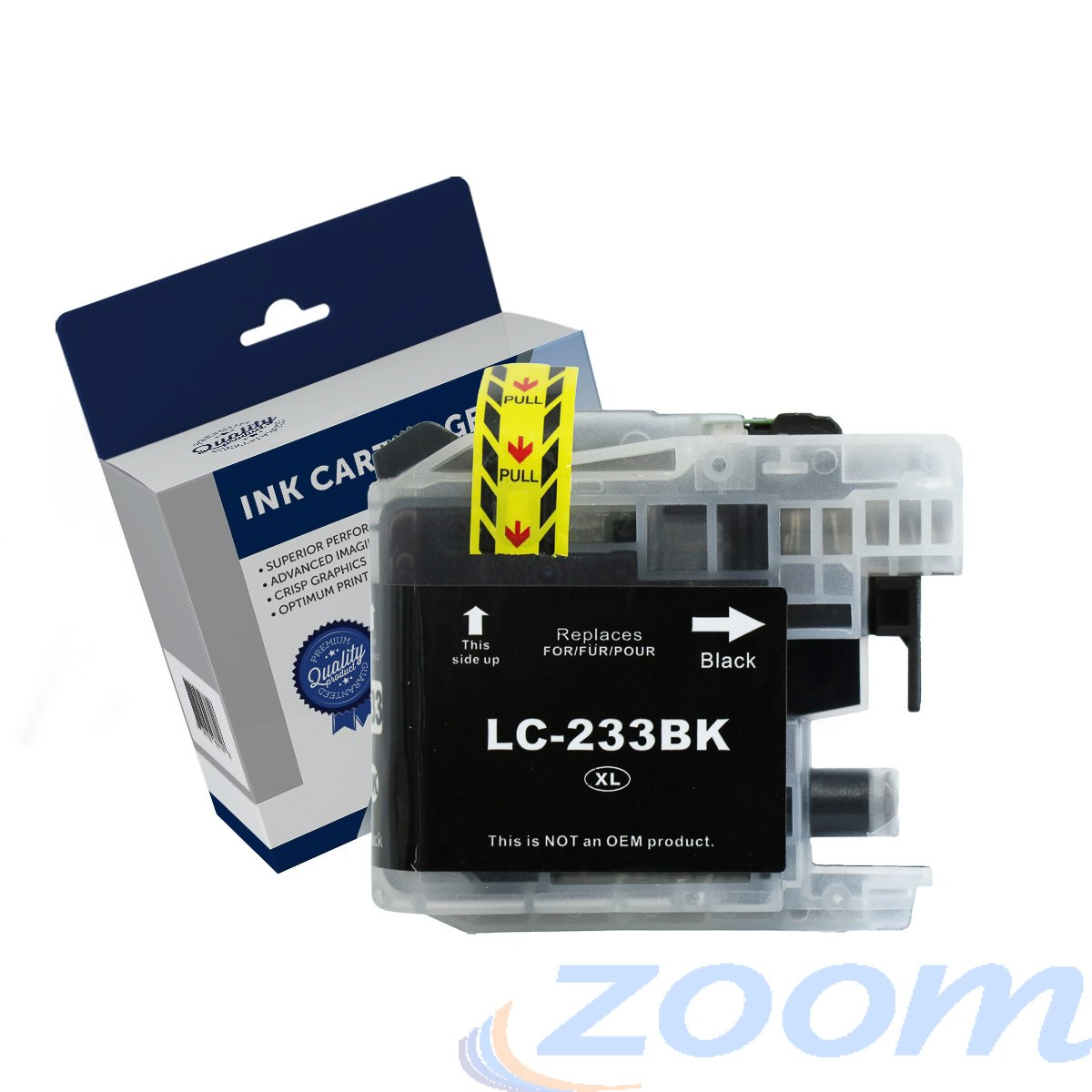 Premium Compatible Brother LC231BK-LC233BK Black High Yield Ink Cartridge