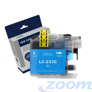 Premium Compatible Brother LC231C-LC233C Cyan High Yield Ink Cartridge