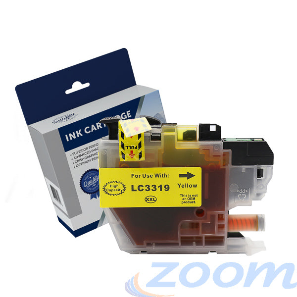 Premium Compatible Brother LC3319XLY, LC3317Y Yellow High Yield Ink Cartridge