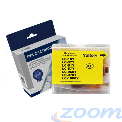 Premium Compatible Brother LC37Y-LC57Y Yellow Ink Cartridge