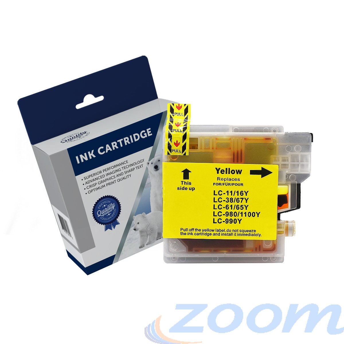 Premium Compatible Brother LC38Y-LC67YYellow Ink Cartridge
