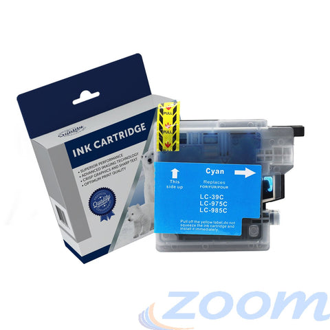 Premium Compatible Brother LC39C Cyan High Yield Ink Cartridge