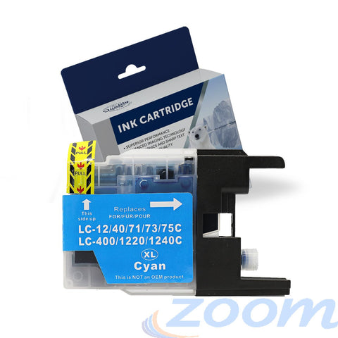 Premium Compatible Brother LC40C-LC73C Cyan High Yield Ink Cartridge