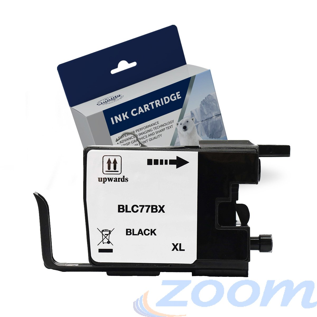 Premium Compatible Brother LC77XLBK Black High Yield Ink Cartridge