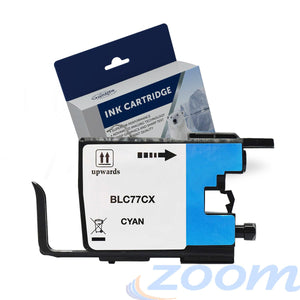 Premium Compatible Brother LC77XLC Cyan High Yield Ink Cartridge