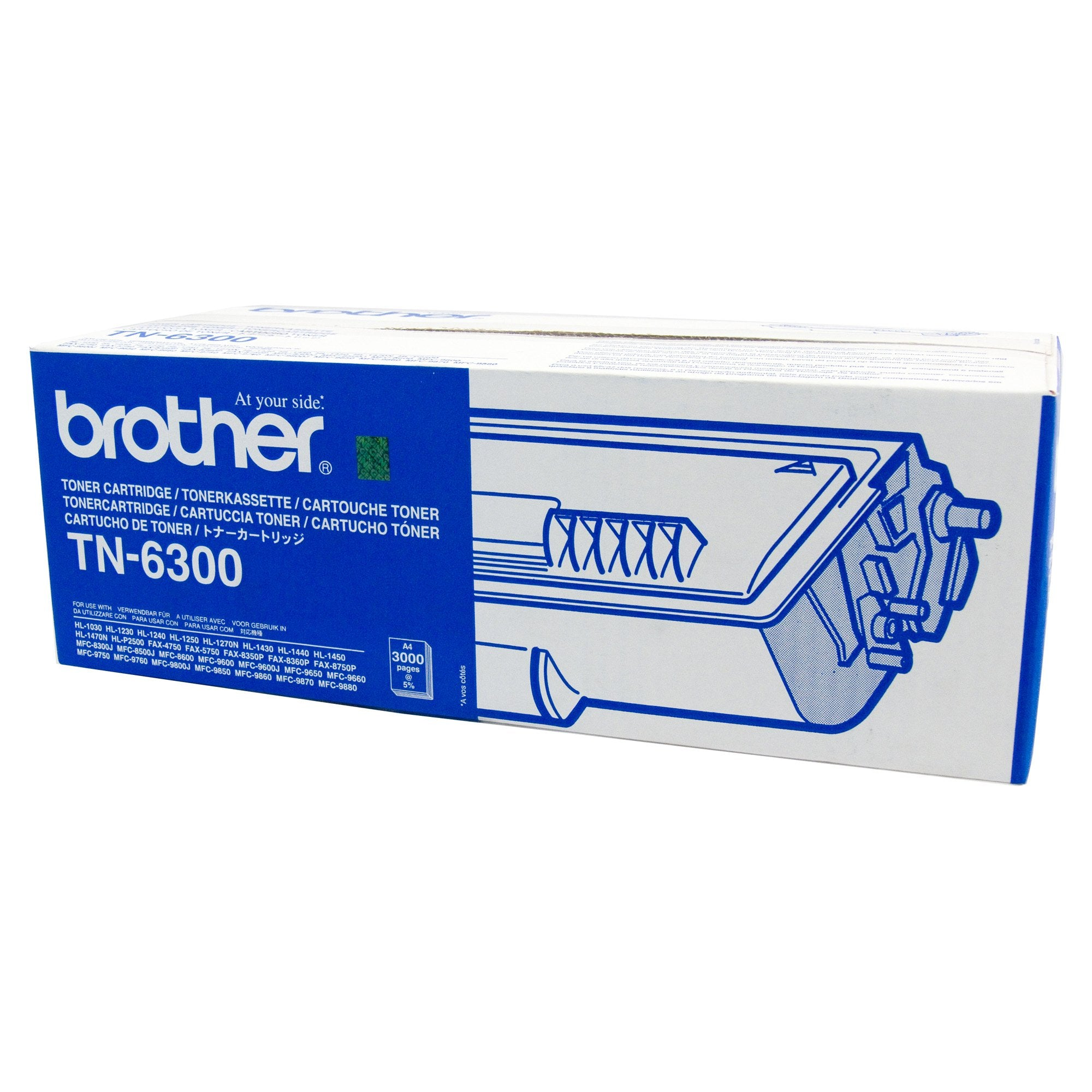 Brother TN-6300 Black Toner Cartridge