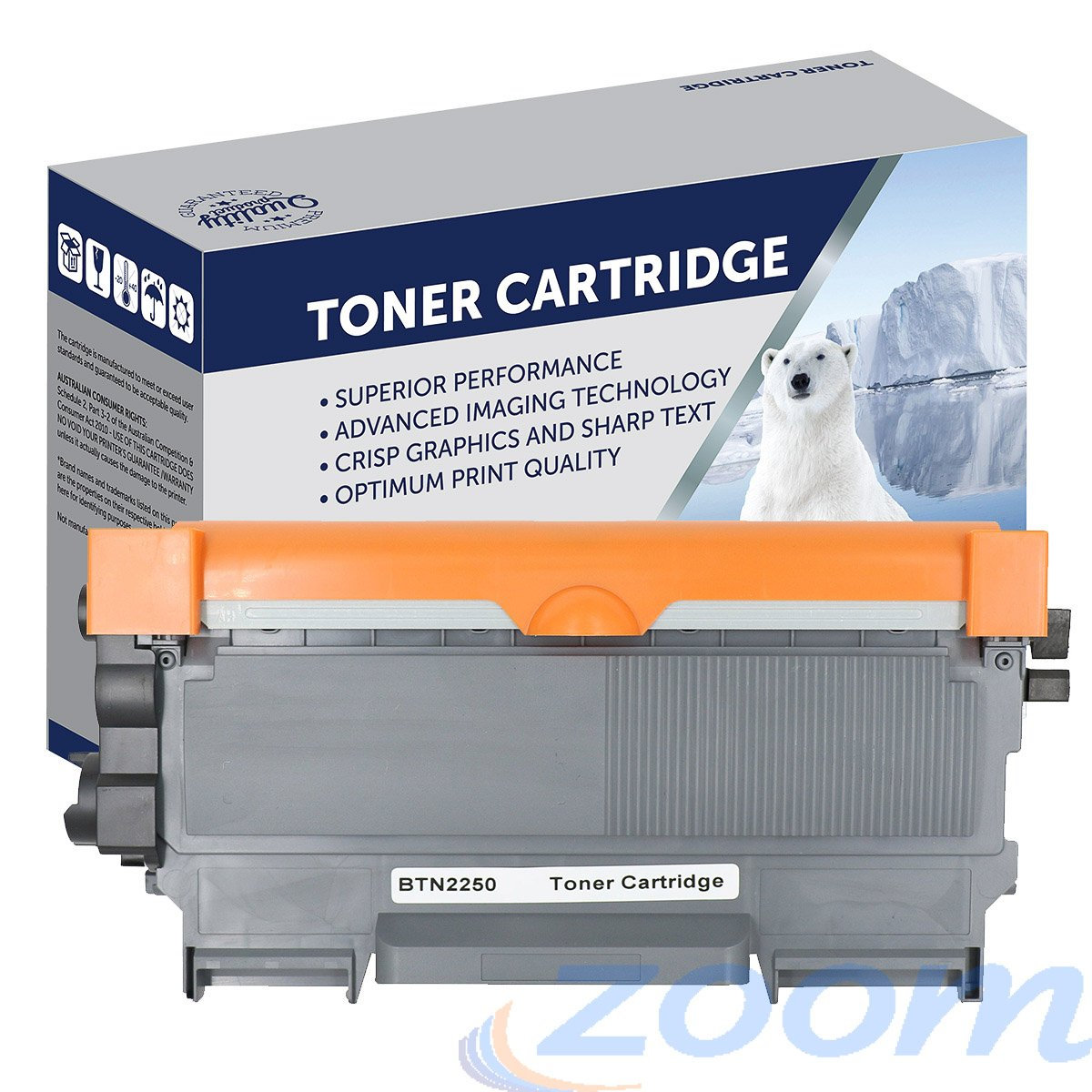 Premium Compatible Brother TN2250, TN2230 Mono Laser High Yield Toner